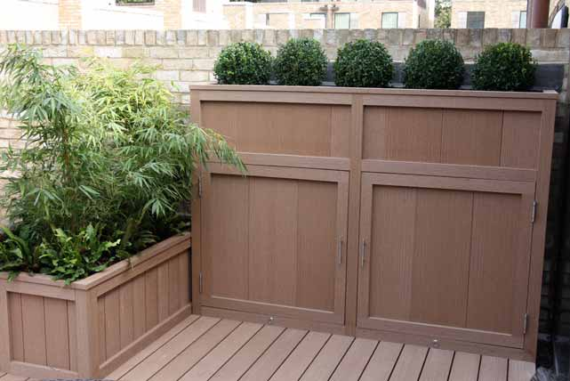 A bespoke storage solution with integral planter